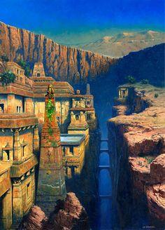 d72a10400b2fdb911995252feb2870b6--fantasy-landscape-fantasy-art.jpg (736×1026)