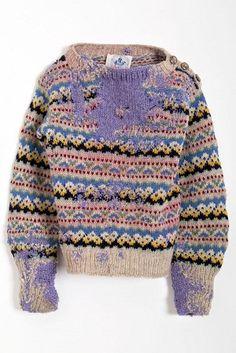 Re knit wool jumper - Repair detail