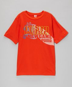 Take a look at this Cherry Tomato New Game Tee - Toddler & Boys by PUMA on #zulily today!