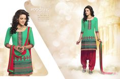 New Indian Salwar Kameez Ethnic Fancy Embroidered Salwar Suit Patiala Cotton
