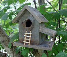 Rustic Cedar Natural Knothole Birdhouse by SwampwoodCreations Decorative Bird Houses, Bird Houses Diy, Fairy Houses, Play Houses, Homemade Bird Houses, Bird House Kits, Bird Boxes, Backyard Lighting, Popular Woodworking