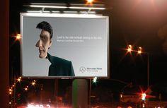 """Mercedes Benz """"Look Twice"""" Cannes, Mercedes Benz, Green Jacket, Stunts, Advertising, Ads, Outdoor, Look, Green Cargo Jacket"""