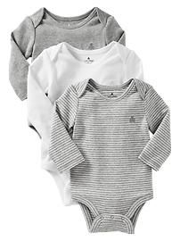 Favorite long-sleeve lapped bodysuit (3-pack)