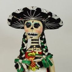 China Poblana Mexicana Day of the Dead Doll