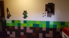 Minecraft Minecraft, Kids Room, Children, Painting, Home Decor, Young Children, Boys, Decoration Home, Room Decor