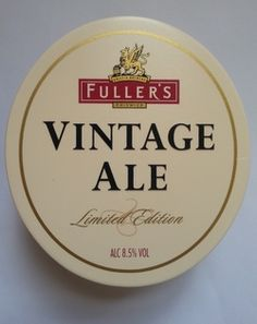 Fuller's Vintage Ale 2013 to be available on cask at Great British Beer Festival