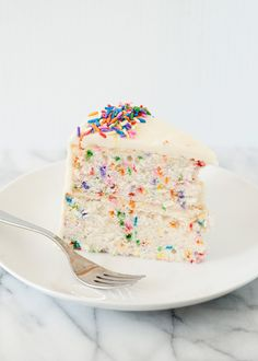 From Scratch: Funfetti Cake with Marshmallow Buttercream Frosting