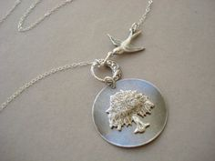 weeping willow tree necklace