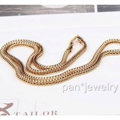 34.7in Longest Chain Real 18k/18ct Yellow Gold Plated Men's Necklace Chain Double Jewelry Gift dream4girls http://www.amazon.com/dp/B00J0VMSBO/ref=cm_sw_r_pi_dp_yTO3tb0XB1F1VS5Y