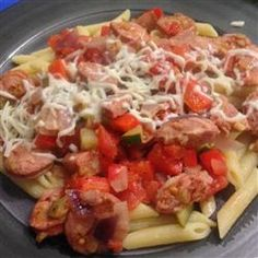 Penne, Peppers, and Chicken-Apple Sausage Saute Allrecipes.com