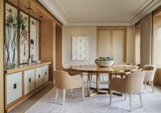 Modern Dining Room in New York, NY by Thomas Pheasant Interiors