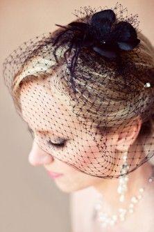 Black Wedding Veil