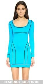 Leather Trim Dress Piped Knit Dress $1,370.00 @ shopbop