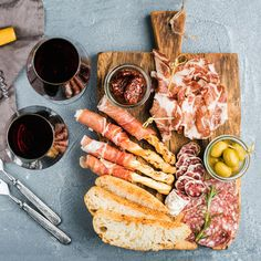 Cheese and meat appetizer selection or wine snack set. Variety of cheese salami prosciutto. Quick Appetizers, Appetizer Recipes, Charcuterie Platter, Tv Chefs, Prosciutto, Food Lists, Street Food, Wine Recipes, A Food