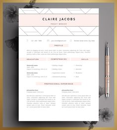 Resume Template, CV Template Editable in MS Word and Pages, Instant Digital Download. by CvDesignCo on Etsy https://www.etsy.com/listing/223612879/resume-template-cv-template-editable-in