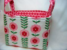 PK Fabric Basket in Floral Stripe  Storage Basket  by PKStuff, $14.50