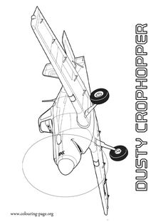 While you wait for the upcoming Planes 2: Fire and Rescue movie, have fun coloring this picture of Dusty Crophopper. Just print it out!