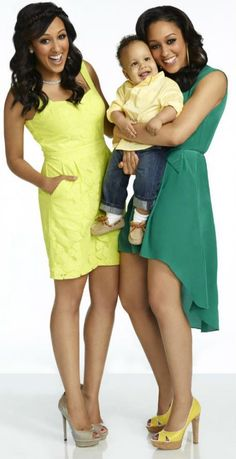 Tamera Mowry-Housley and Tia Mowry-Hardrict, with Tia's son, Cree Taylor Hardrict (her husband is Cory Hardrict)