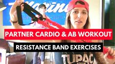 Fun Partner Workout : Cardio & Ab Resistance Band Exercise Ideas for Boo...