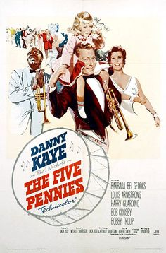 "Directed by Melville Shavelson. With Danny Kaye, Barbara Bel Geddes, Louis Armstrong, Harry Guardino. Loring ""Red"" Nichols is a cornet-playing country boy who goes to New York in the 1920s full of musical ambition and principles. He gets a job playing in Wil Paradise's band, but quits to pursue his dream of playing Dixieland jazz. He forms the ""Five Pennies"" which features his wife, Bobbie, as vocalist. At the peak of his fame, Red and Bobbie's daughter, Dorothy, ..."