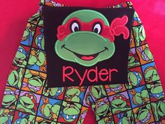 Teenage Mutant Ninja Turtle inspired birthday party outfit is adorable and custom made for your TMNT fan by BirdieJamesEandS