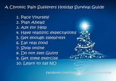 This goes out to anyone who suffers from chronic pain as this will help you get through the holidays much better!