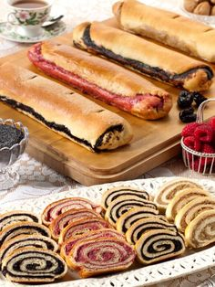 Traditional nut rolls and poppy seed rolls taste like homemade. Nut rolls contain English walnuts. Poppyseed rolls are made with special poppyseed butter. Slovak Recipes, Hungarian Recipes, Hungarian Desserts, Hungarian Cuisine, European Cuisine, Czech Recipes, German Recipes, Nut Roll Recipe, Rolls Recipe