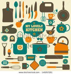 Kitchen set icon.