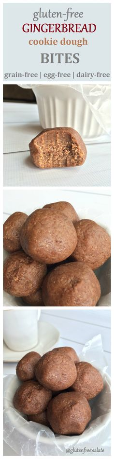Gluten-Free Gingerbread Cookie Dough Bites by Gluten-Free Palate (GF, DF, EF)