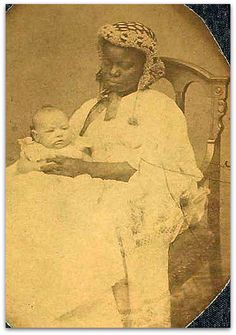 Rare Photo of Civil War Era African American Woman and White Baby by Mathew Brady.