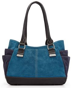 want - Tignanello Handbag, Suede Shopper - Tignanello - Handbags & Accessories - Macy's