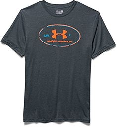 Under Armour - para hombre T-Shirt y depósito Triblend Lockertag té Negro Stealth Gray Talla:large