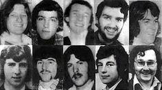 The Ten 1981 Hunger Strike martyrs - From left to right, clockwise: Bobby Sands, Francis Hughes, Ray McCreesh, Patsy O'Hara, Joe McDonnell, Martin Hurson, Kevin Lynch, Kieran Doherty, Thomas McElwee, Michael Devine.