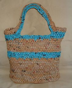 Crochet a Spike Stitch Plarn Tote Bag   My Recycled Bags.com