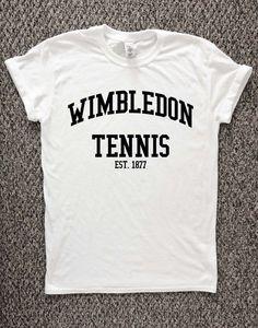 Wimbledon Tennis t shirt tennis t shirt by TheWatermelonFactory #tennisworkoutideas