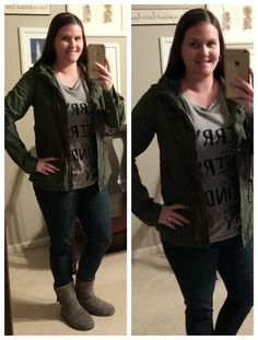 What I Wear: Mom Style #16- Graphic tee & military jacket