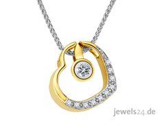 Moderner Halsschmuck, ein Collier bestehend aus einem Herz Diamantanhänger  und einer feinen Zopf- Halskette beides aus (14 Karat) Gelbgold gefertigt. Eine tolle Geschenkidee für Ihre Liebste zum Valentinstag. Weitere Geschenke und wunderschönen Schmuck mit Diamanten finden Sie in unserem Online Schmuck Shop www.jewels24.de #valentinstag #geschenkidee #schmuck #diamantschmuck