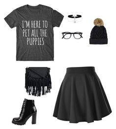 """Black"" by whalebuddies ❤ liked on Polyvore featuring Jeffrey Campbell"
