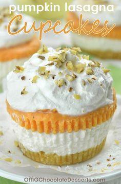 Pumpkin Lasagna Cupcakes – individual portion of DELICIOUS and EASY, NO BAKE PUMPKIN DESSERT.
