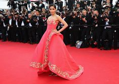 "Freida Pinto attends ""The Homesman"" premiere during the 67th Annual Cannes Film Festival on May 18, 2014 in Cannes, France."