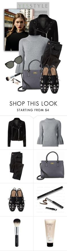 """""""YESSTYLE.com"""" by monmondefou ❤ liked on Polyvore featuring Paige Denim, Carolina Herrera, Wrap, Salvatore Ferragamo, The Face Shop, Gucci, Beauty, party, holiday and yesstyle"""
