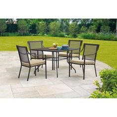 Mainstays Bellingham 5-Piece Patio Dining Set, Seats 4 $229 was 329
