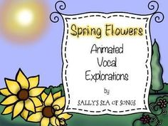 Teacher Appreciation Freebie!  Get your students using their head voices with these spring themed animated vocal exploration slides. The PowerPoint presentation contains: 3 animated slides 1 printable worksheets