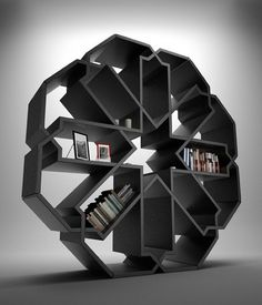 From Art and Architecture. Bookcase inspired by islamic geometric design.
