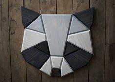 wooden raccoon