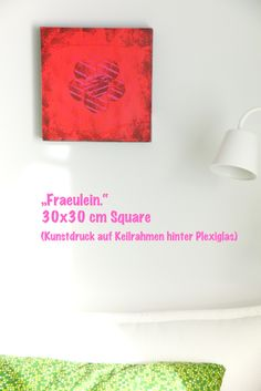 """Schwarzwald. Anders."" Square ""Fraeulein."" 30x30 cm www.kindle-photography.de ""Schwarzwald. Anders."" Kunstdrucke auf Keilrahmen hinter Plexiglas"