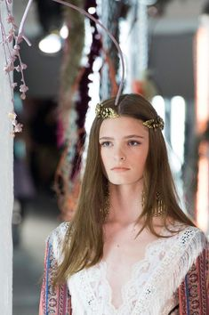 rodarte runway show models ss16 Best Hairstyle Trends 2017, 2018: NYFW Spring Summer 2016: Sleek Cuts, Looks, Hair Accessories