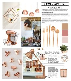 """Copper Love"" by bittersweet89 ❤ liked on Polyvore featuring interior, interiors, interior design, home, home decor, interior decorating, Urban Outfitters, Tom Dixon, Cutipol and Anthropologie"