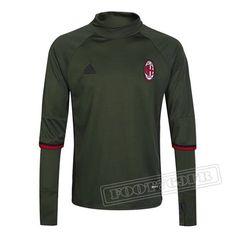 Dernier Sweatshirt Training Milan AC 2016-2017 France Thai Edition Vert Fonce
