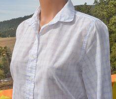 vintage 70s blouse plaid GAP shirt button down shirt by skippyhaha